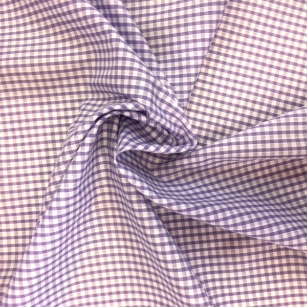 1/8'' Polycotton Gingham LILAC
