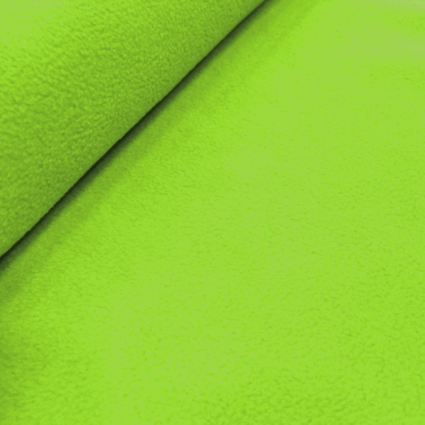 Plain Fleece Fabric  LIME GREEN