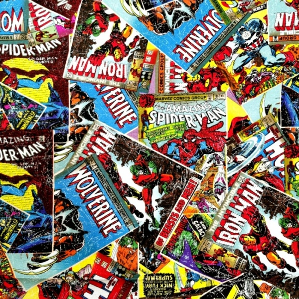 Marvel Comic Book 100% Cotton