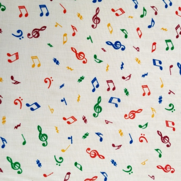 Musical Notes Polycotton