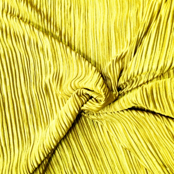 Pleated Polyester MUSTARD