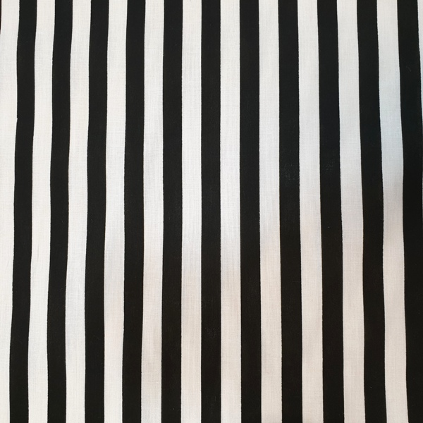 Polycotton Stripes BLACK