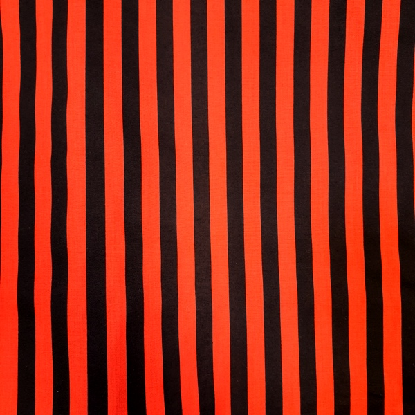 Polycotton Stripes RED & BLACK