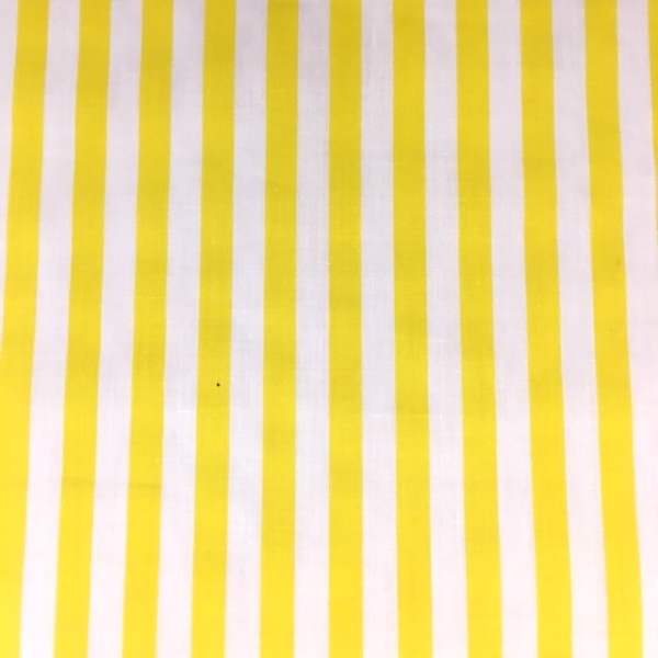 Polycotton Stripes YELLOW