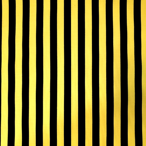 Polycotton Stripes YELLOW & BLACK