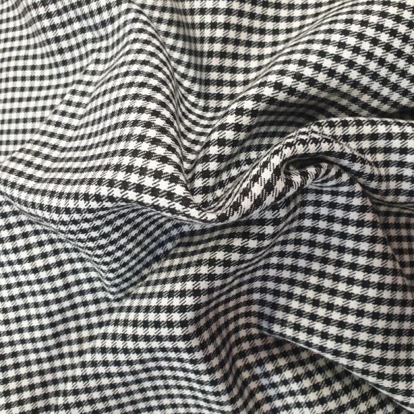 100% Polyester Check Black and White