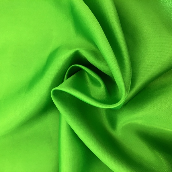 20 metres of Polyester Satin - Bright Green