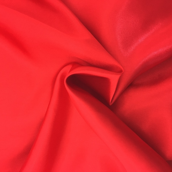 20 metres of Polyester Satin - Red
