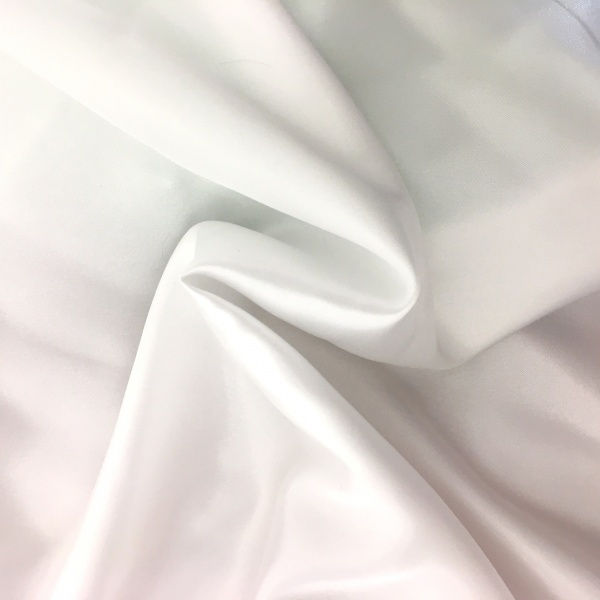 20 metres of Polyester Satin - White