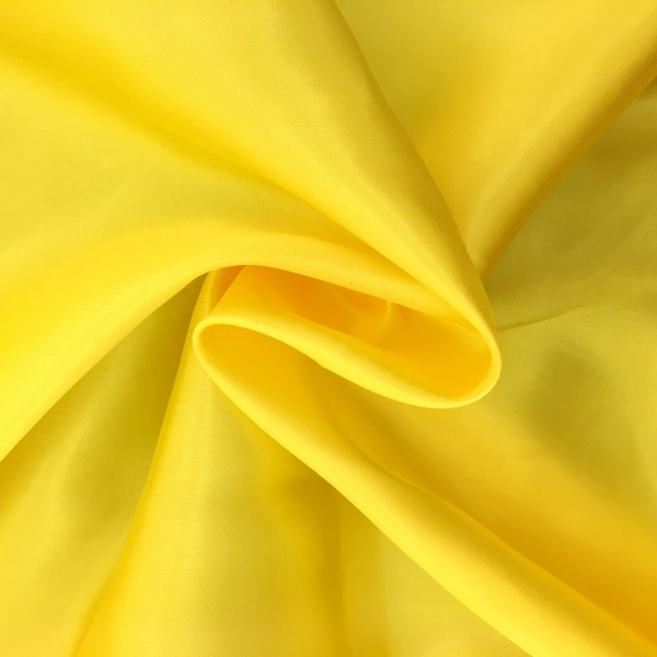 20 metres of Polyester Satin - Yellow