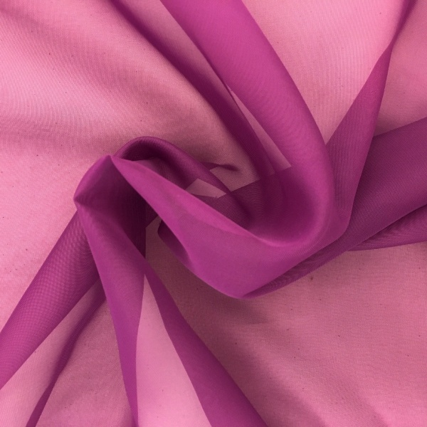 Plain Voile FLAME RETARDANT Purple