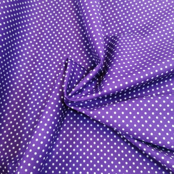 3mm Spot  Cotton Purple