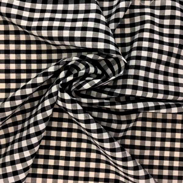 1/4'' Polycotton Gingham BLACK