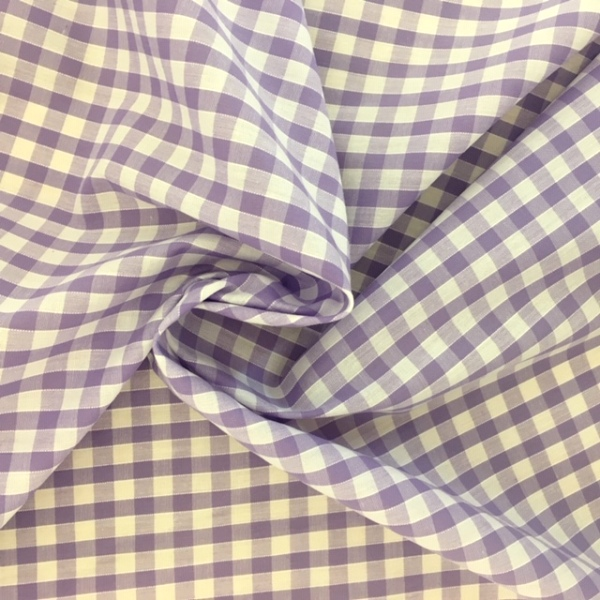 1/4'' Polycotton Gingham LILAC
