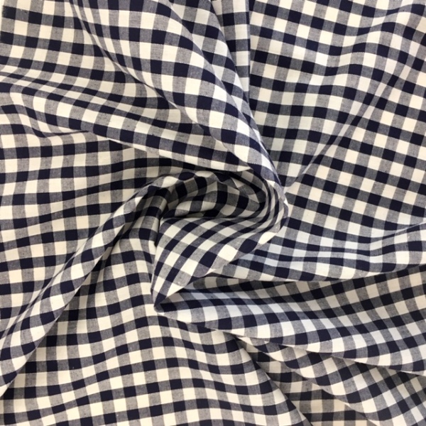 1/4''  Polycotton Gingham NAVY