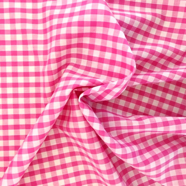 1/4 ''  Polycotton Gingham BABY PINK