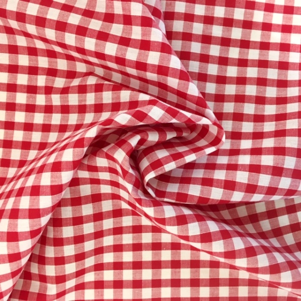 1/4 ''  Polycotton Gingham RED