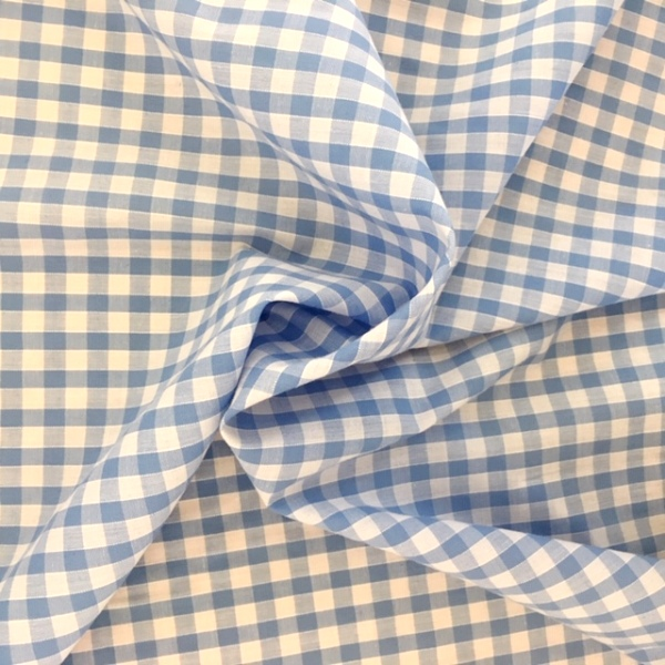 1/4'' Polycotton Gingham SKY BLUE