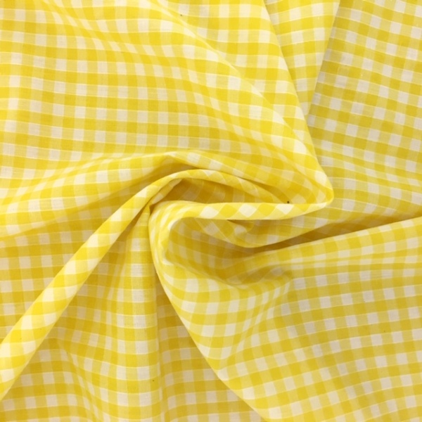 1/4'' Polycotton Gingham YELLOW