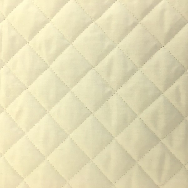 Quilted Polycotton IVORY