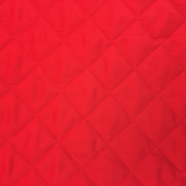 Quilted Polycotton RED