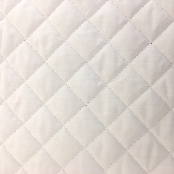 Quilted Polycotton WHITE