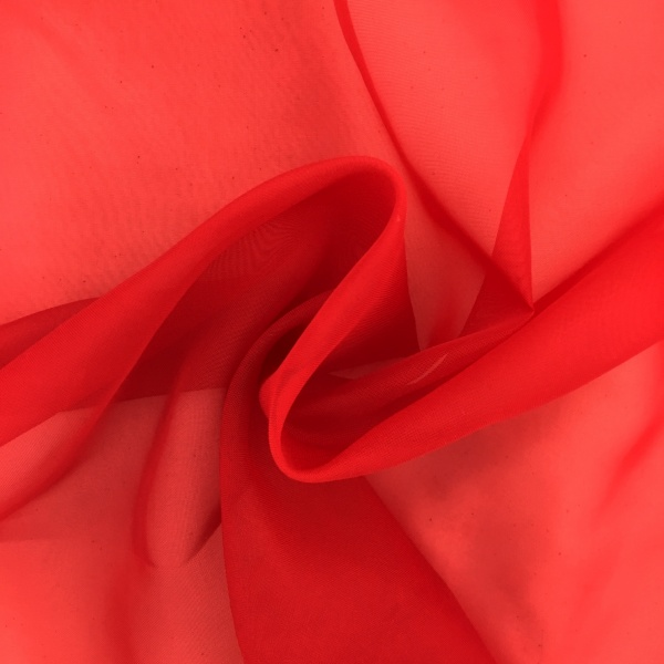 Plain Voile FLAME RETARDANT Red