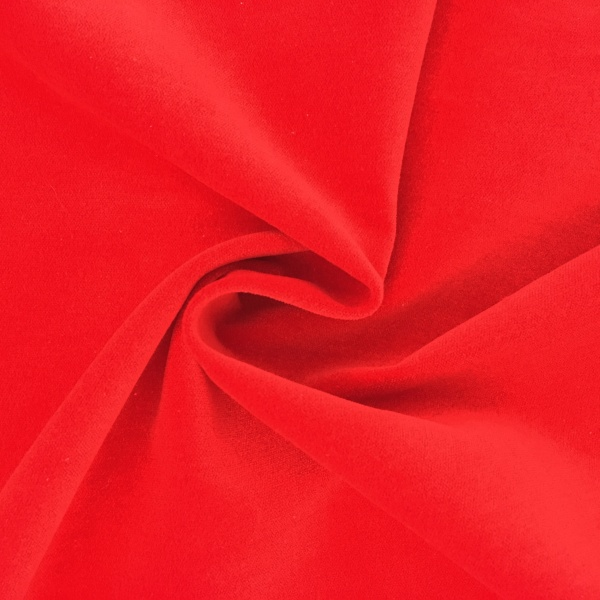 Cotton Velvet Red