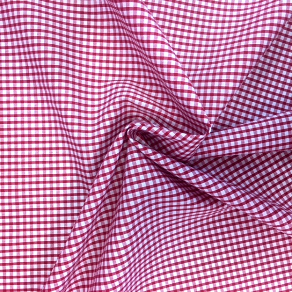 1/8'' Polycotton Gingham RED