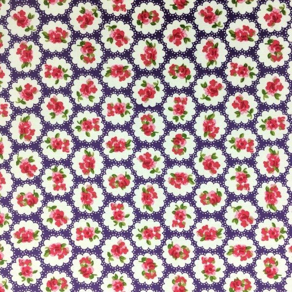 Floral Poplin Design 10 Purple