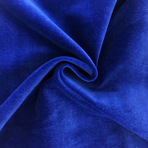 Cotton Velvet Royal Blue