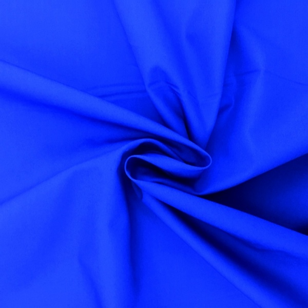 100% Cotton Poplin - ROYAL BLUE