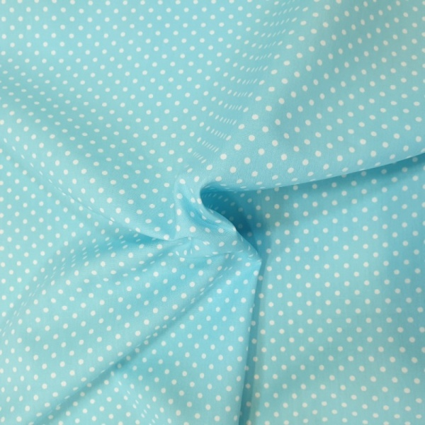 3mm Spot Cotton Sky Blue