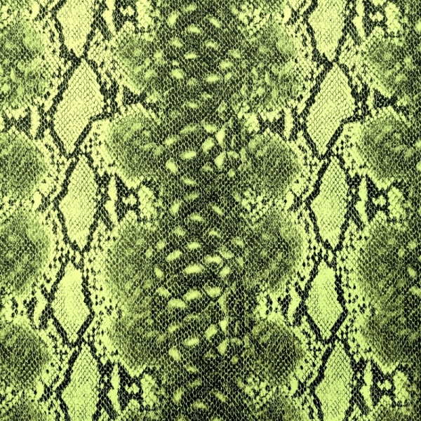 Green Snakeskin Leatherette