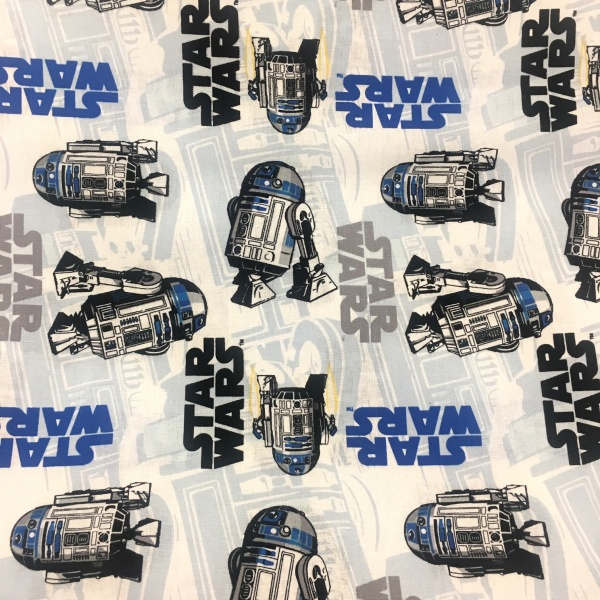 Character 100% Cotton STAR WARS ON WHITE