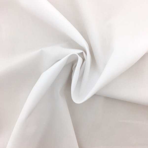 10 metre wide Cotton Sheeting - WHITE