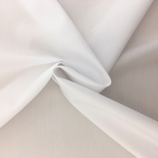 100% Cotton Poplin - WHITE