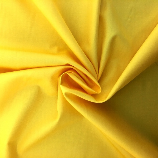 100% Cotton Poplin - YELLOW